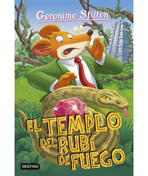 GERONIMO STILTON 48 EL TEMPLO DEL RUBI DE FUEGO Infantil