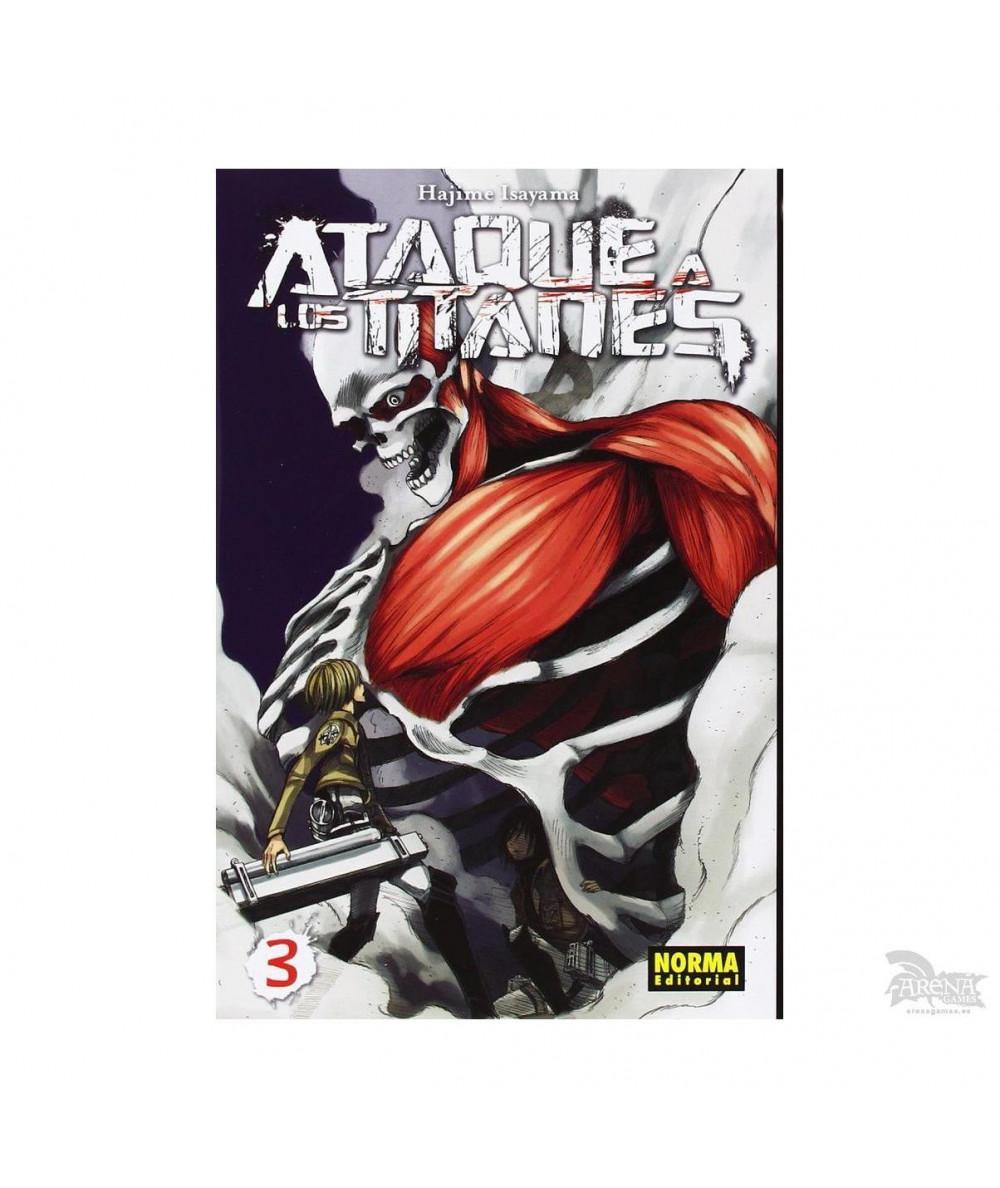ATAQUE A LOS TITANES 3 Comic y Manga
