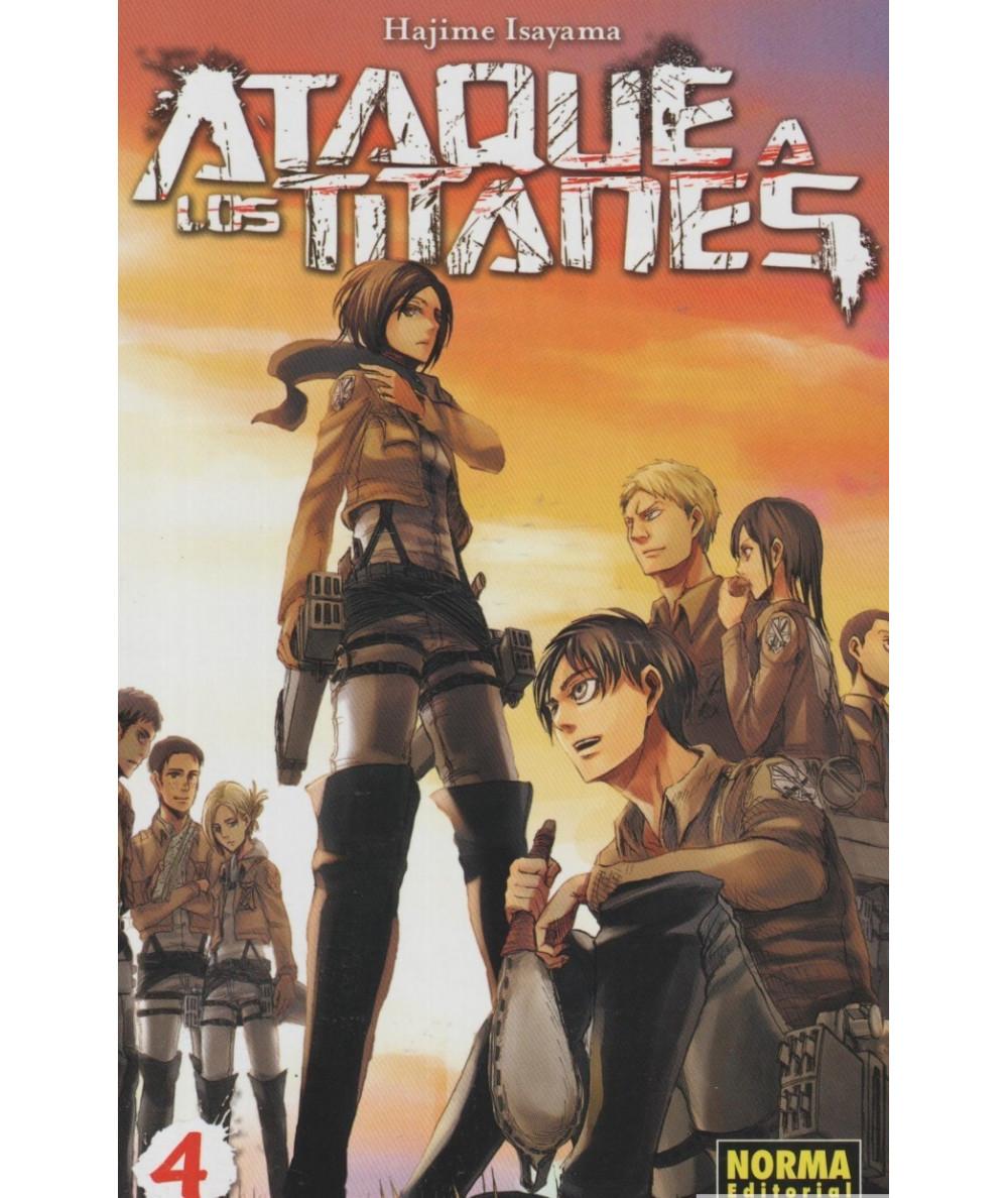 ATAQUE A LOS TITANES 4 Comic y Manga