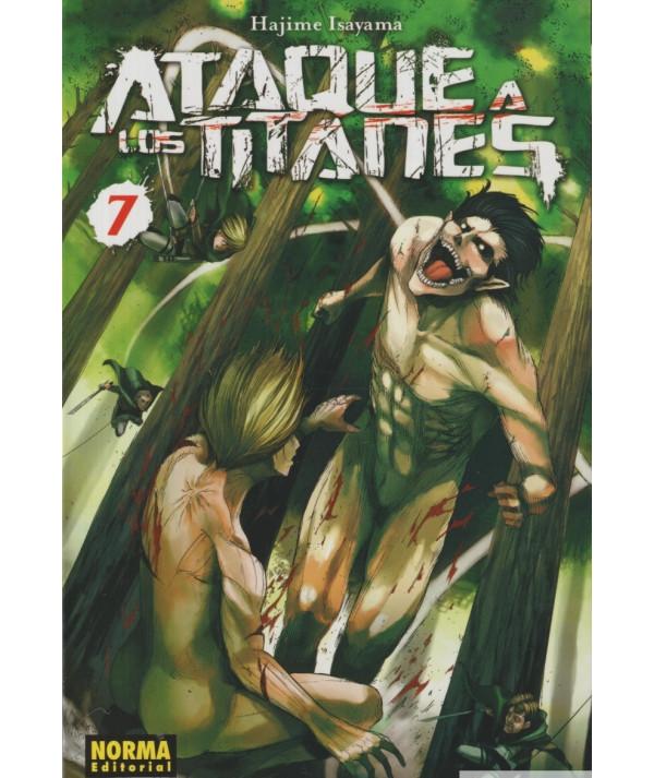 ATAQUE A LOS TITANES 7 Comic y Manga