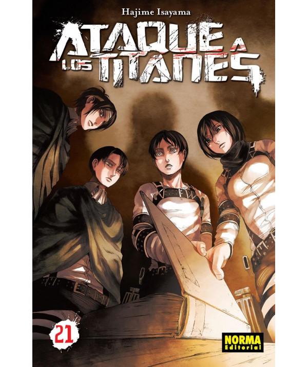 ATAQUE A LOS TITANES 21 Comic y Manga