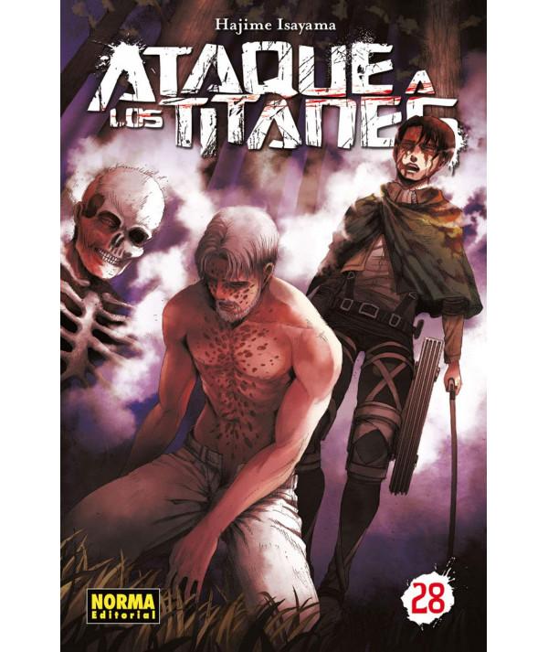 ATAQUE A LOS TITANES 28 Comic y Manga