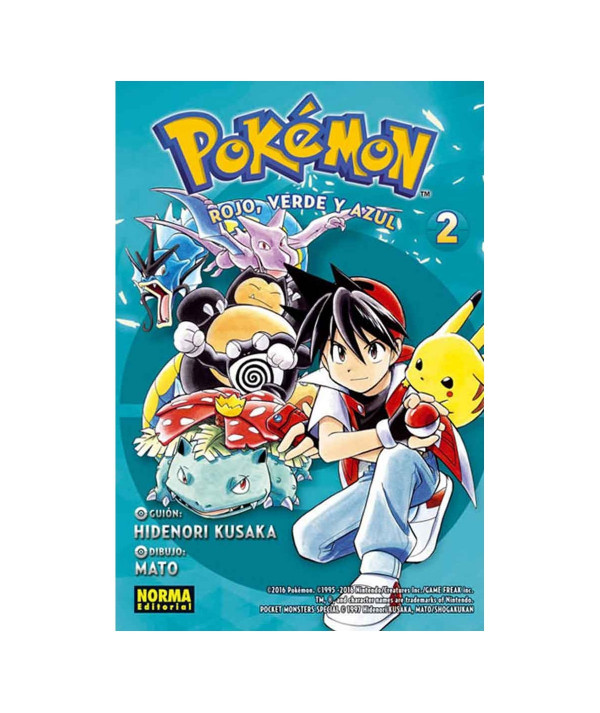 POKEMON. ROJO, VERDE Y AZUL 2 Comic y Manga