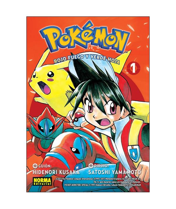 POKEMON. ROJO FUEGO Y VERDE HOJA 1 Comic y Manga