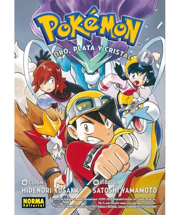 POKEMON. ORO PLATA Y CRISTAL 4 Comic y Manga