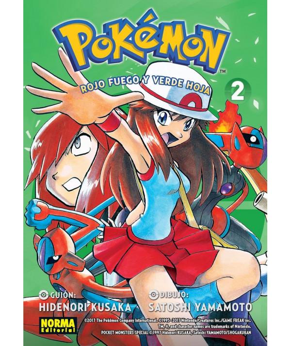 POKEMON. ROJO FUEGO Y VERDE HOJA 2 Comic y Manga