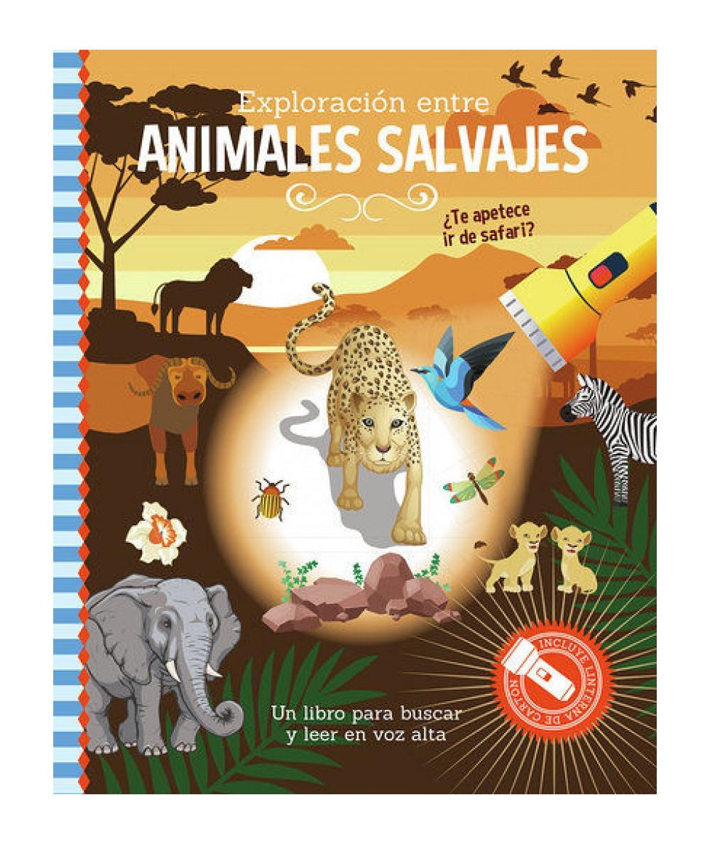 LIBRO LINTERNA. Exploración entre animales salvajes Infantil