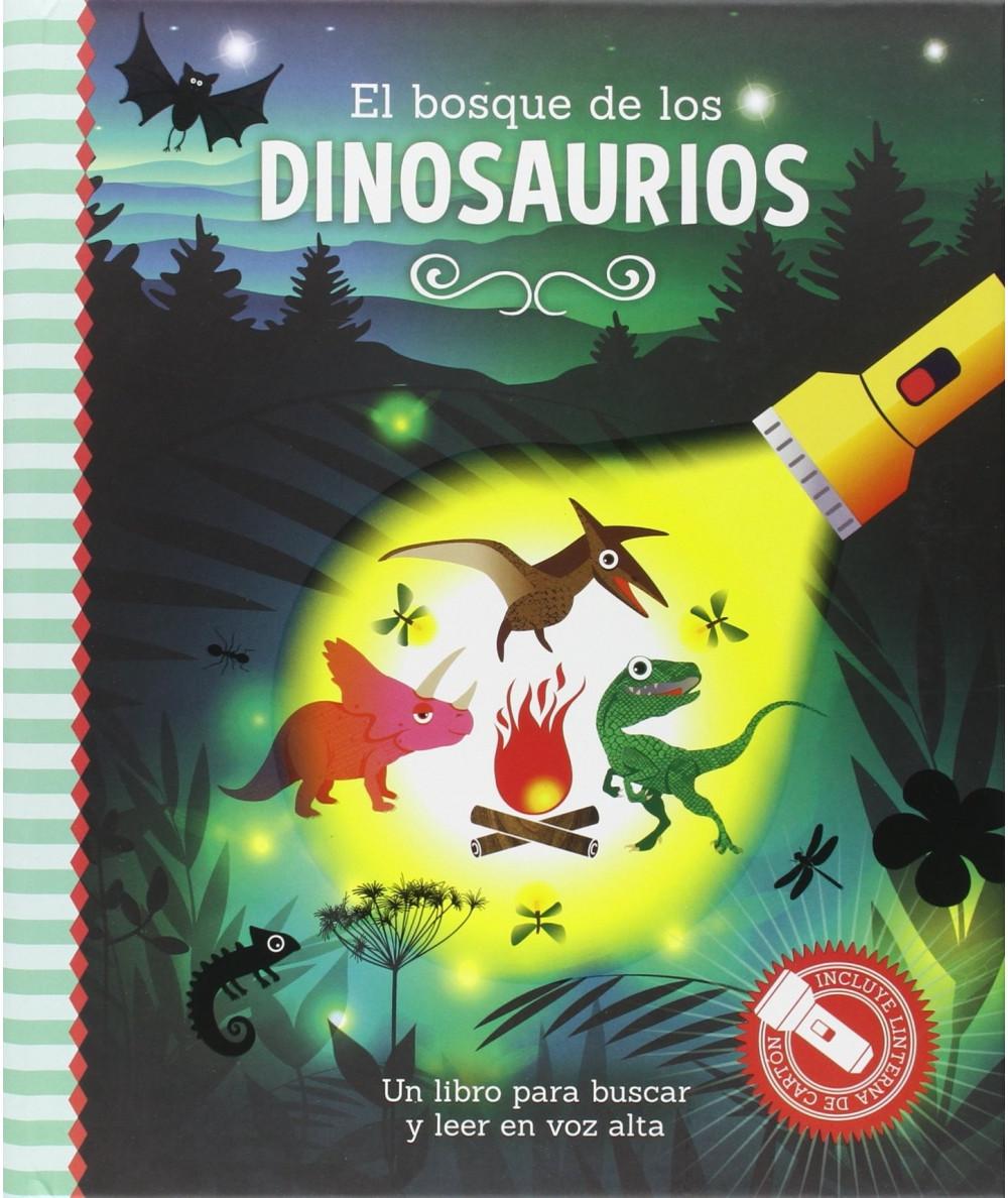 LIBRO LINTERNA. El bosque de los dinosaurios Infantil