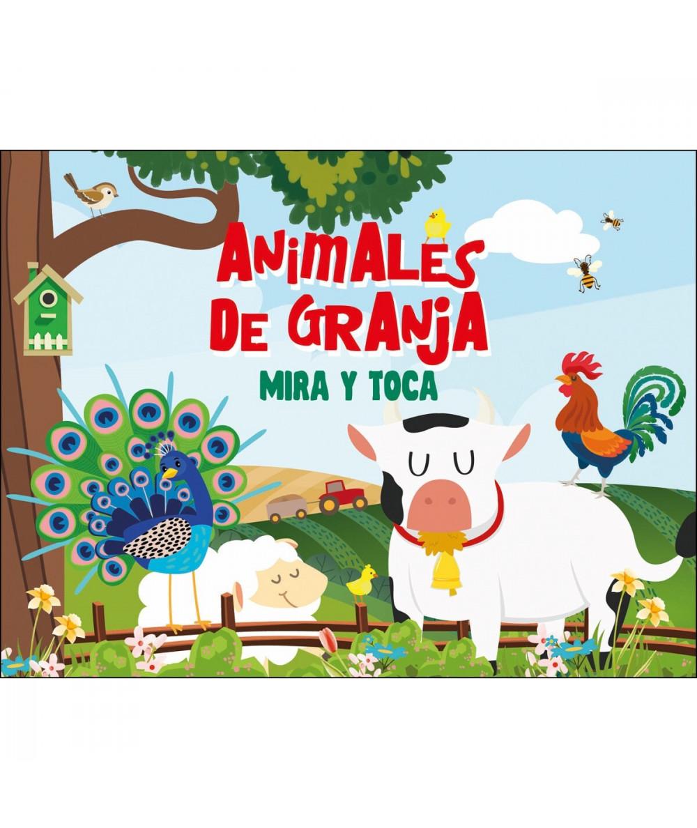 ANIMALES DE LA GRANJA MIRA Y TOCA Infantil