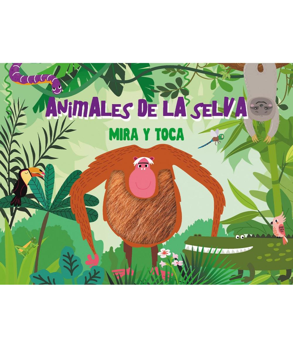 ANIMALES DE LA SELVA MIRA Y TOCA Infantil
