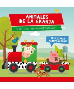 ANIMALES DE GRANJA (TREN ROMPECABEZAS) Infantil