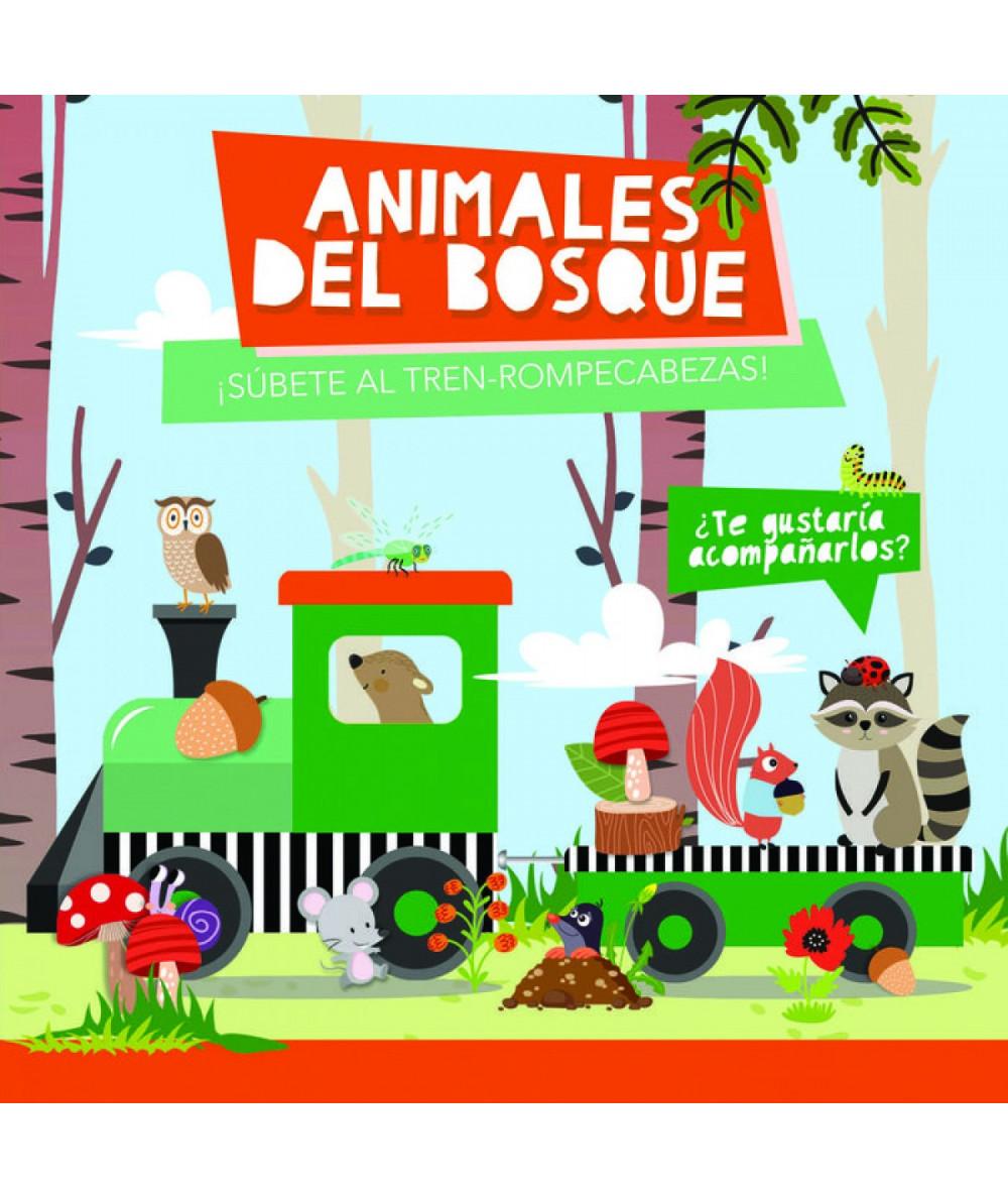 ANIMALES DEL BOSQUE (TREN ROMPECABEZAS) Infantil