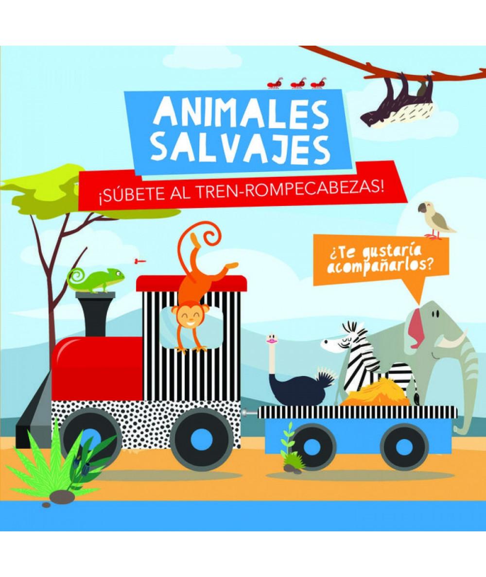 ANIMALES SALVAJES (TREN ROMPECABEZAS) Infantil