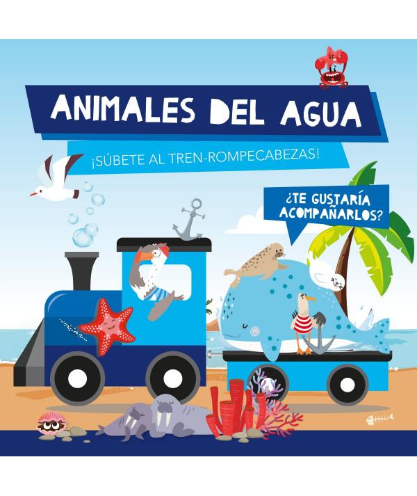 ANIMALES DE AGUA (TREN ROMPECABEZAS) Infantil