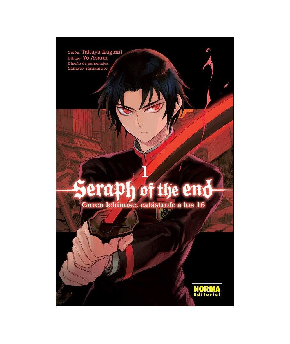 SERAPH OF THE END 1: GUREN ICHINOSE, CATÁSTROFE A LOS DIECISÉIS Comic y Manga