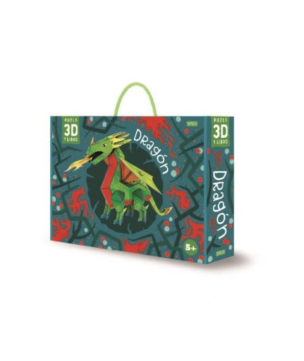 PUZZLE 3D + LIBRO DRAGÓN MANOLITO BOOK