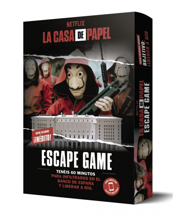 La Casa de Papel. Escape Game. Objetivo: liberar a Río Novedades
